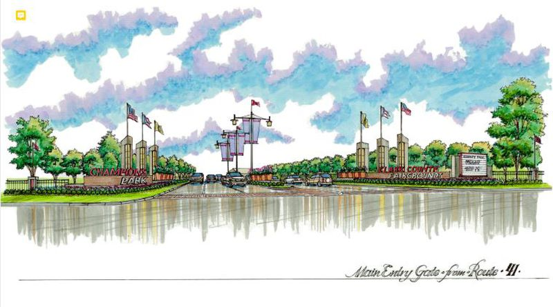 Renovations to the entrance of the Clark County Fairgrounds will occur over the next couple of years. Contributed